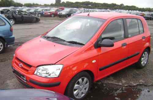 Hyundai Getz Door Mirror Passengers Side -  - Hyundai Getz 2004 Petrol 1.3L Manual 5 Speed 5 Door Electric Windows Front Manual Mirrors, Red