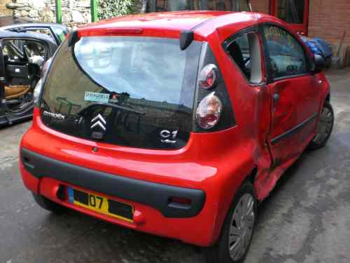 Citroen C1 Door Front Passengers Side -  - Citroen C1 2007 Petrol 1.0L 2005--2014 Manual 5 Speed 3 Door Manual Mirrors, Manual Windows, Wheels 14 inch, Yellow Vehicle Range 2005--2014