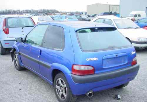 Citroen Saxo Door Front Passengers Side -  - Citroen Saxo 2002 Petrol 1.6L VTR 8V Manual 5 Speed 3 Door Manual Mirrors, Blue